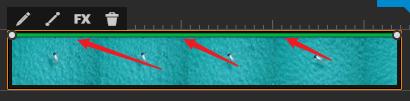 WeVideo 不透明度の制御ライン