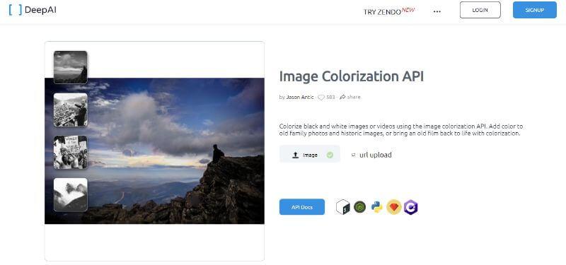 Colorization API Home
