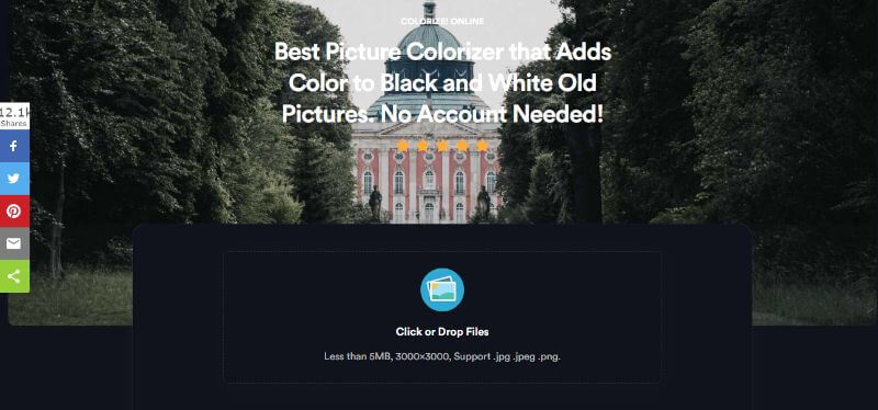 Colorize Online Home Page
