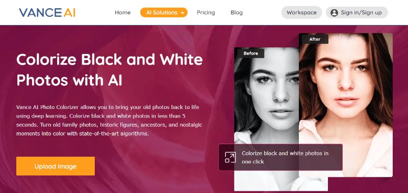 Photo Colorizer Home Page