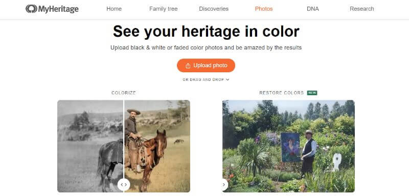 My Heritage Page