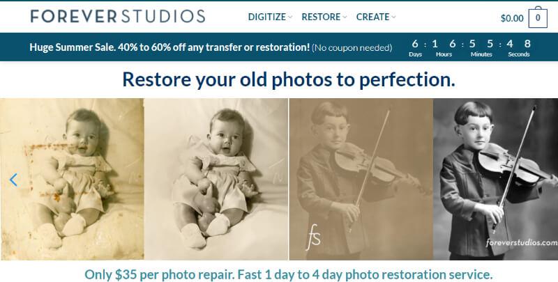 photo restoration services Forever Studio