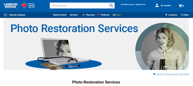 photo restoration services LondonDrugs