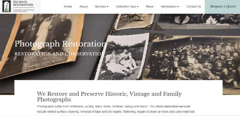 photo restoration services OldWorld