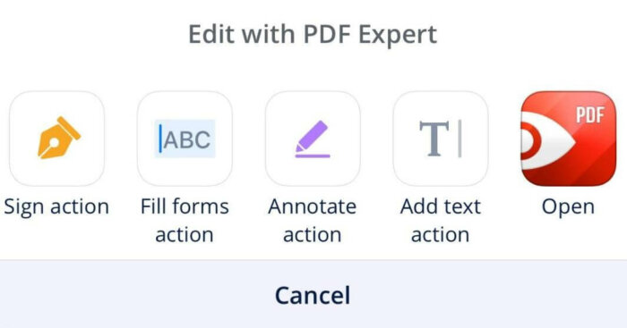 eSign with PDFexpert step 1