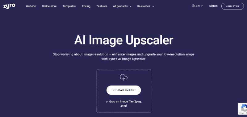 Zyro photo enhancer