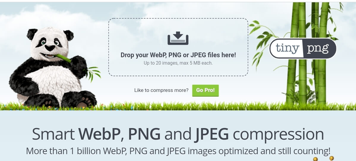 Compress PNG with Tiny PNG