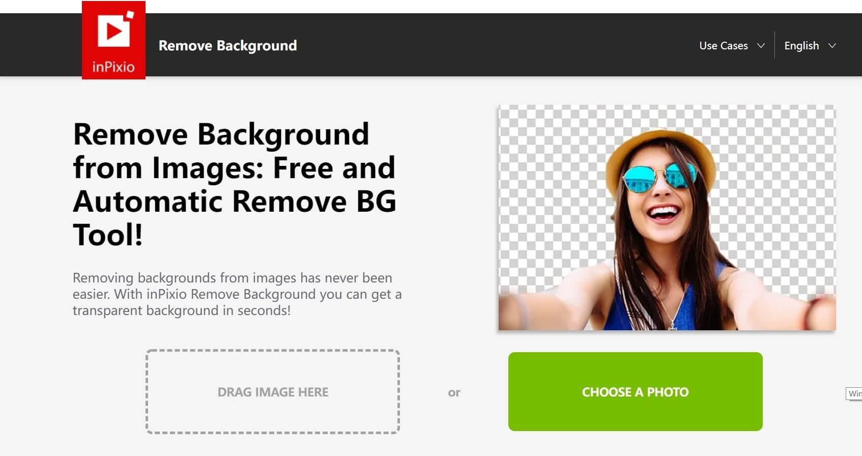 Background removal too inPixio