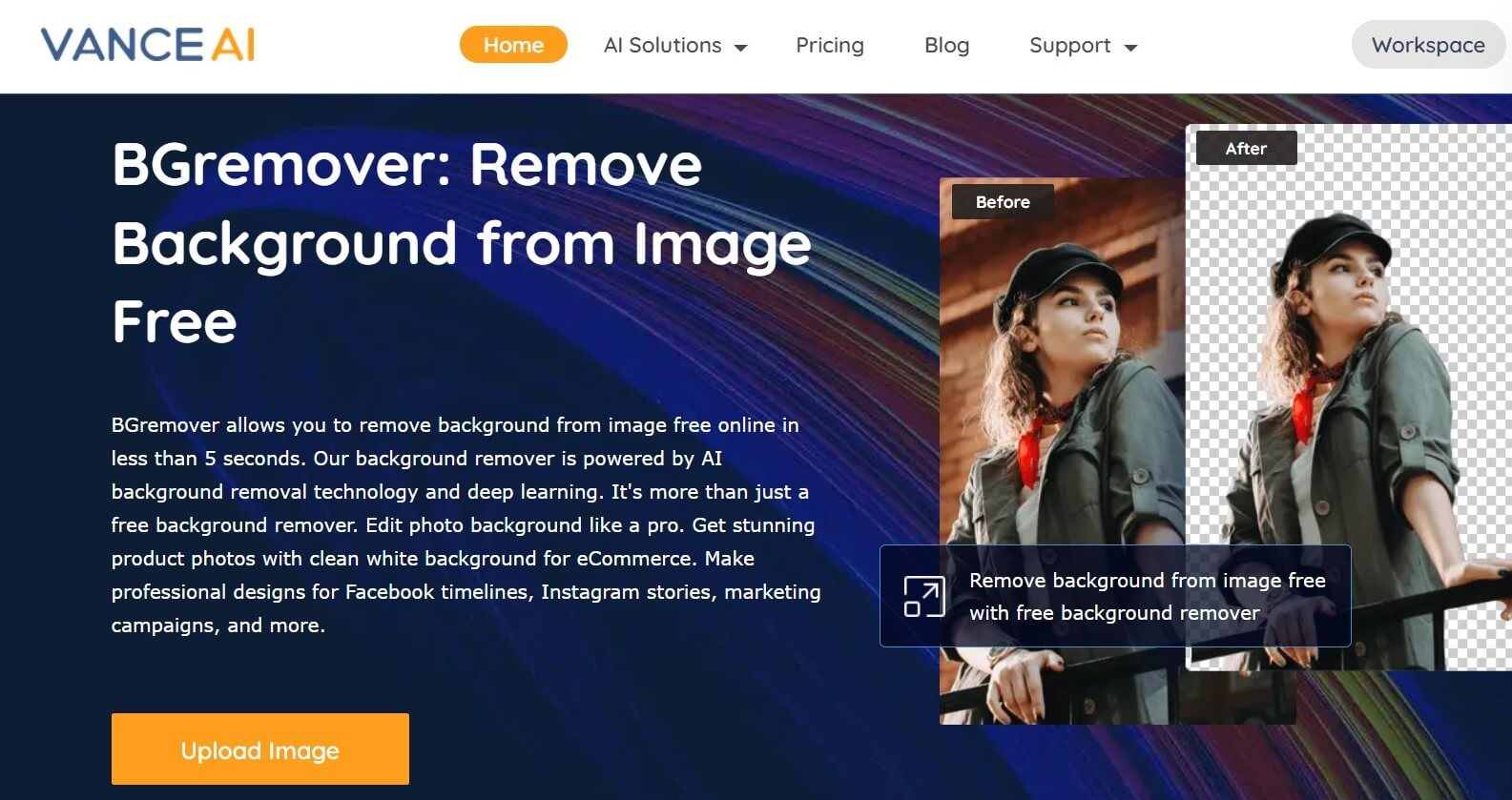 Background removal tool BGremover